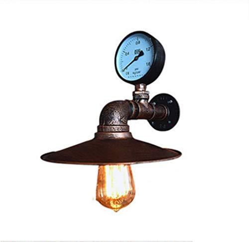Vintage Industrial Wind Handgefertigte Schmiedeeiserne Pfeifen Leuchte, Kreative Haus Metall-Wand Lampe Kronleuchter, Bar-Raumbeleuchtung