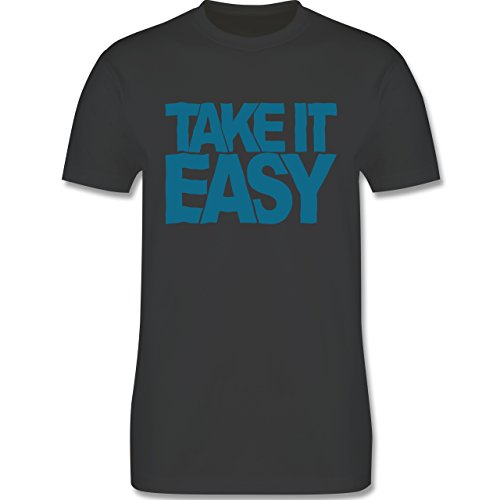 Statement Shirts - Take it easy - Herren Premium T-Shirt Dunkelgrau