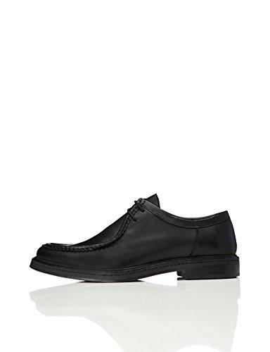 Find. Zapatos De Cordones y Costura para Hombre, Negro Black, 45 EU