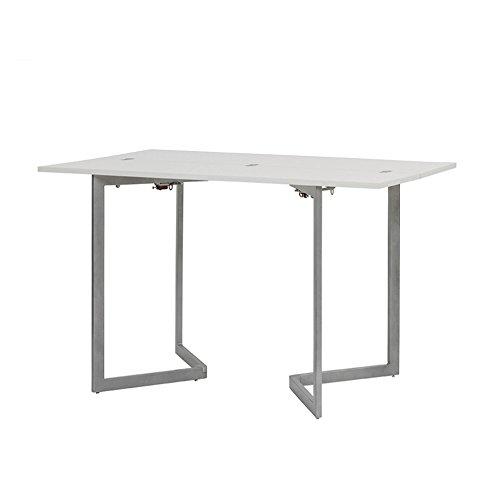 Cribel clever tavolo consolle, legno frassino, metallo laccato, bianco