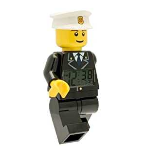 LEGO City 9002274 Sveglia retroilluminata per bambini minifigure poliziotto   plastica   24 cm di altezza   Schermo LCD… 5065000460631 LEGO