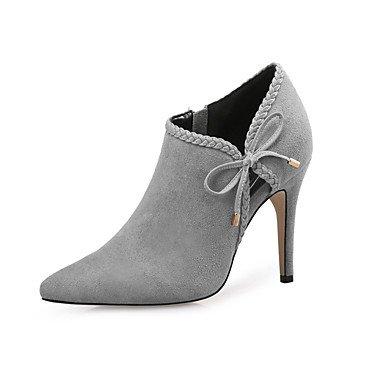 Rtry Femmes Chaussures Flocage Automne Hiver Mode Bottes Talon Stiletto Bottes Bottines / Bowknot Cheville Bottes Pour Party & Amp; Robe De Soirée Kaki Rougissant Us8 / Eu39 / Uk6 / Cn39