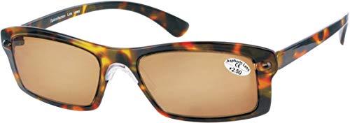 LO69 Opticollection Gafas de Lectura para vista cansada con Funda Tela a juego Hombre   Mujer   Lentes Graduadas para Presbicia: +1/ +1.5/ +2/ +2.5/ +3/ +3.5 (+1.00, Habana-Marrón)