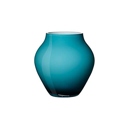 Villeroy & Boch Oronda Mini Vase Caribbean Sea, 12 cm, Glas, Blau (Vase Glas Blau)