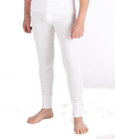 Man thermal underwear - 'Long Johns' Long Pants White