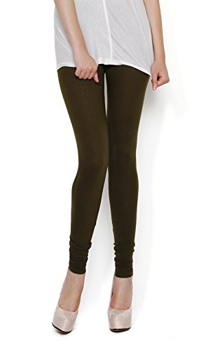 The Gud Look 95% Cotton 5% Spandex Stretch Legging - Olive (34)  available at amazon for Rs.299