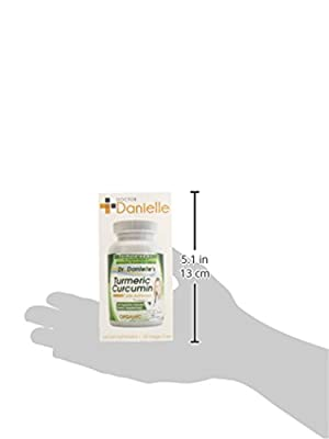 Organic Curcumin (Turmeric) with Bioperine® for more bioavailable, 120 Vegetarian Capsules, 500mg, No binders, No Fillers, No additives, from Dr. Danielle by Dr. Danielle