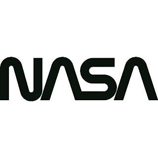 U24 Aufkleber NASA Schriftzug schwarz 30 x 8 cm Autoaufkleber Sticker Konturschnitt