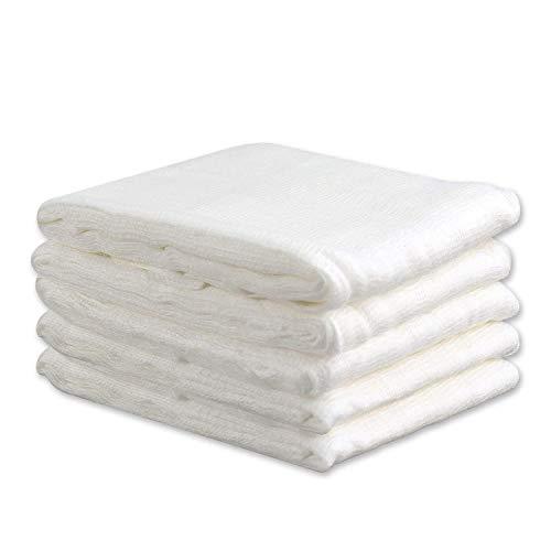 Esnow 5pcs 100% Ungebleichter Baumwoll-Cheesecloth Wiederverwendbarer Filter oder Sieb für Weihnachtsdekorationen, Kochen, Käse herstellen, Spinnmutter, Basting Türkei, 20 SqFt / 3 Yards - Baumwolle Filter