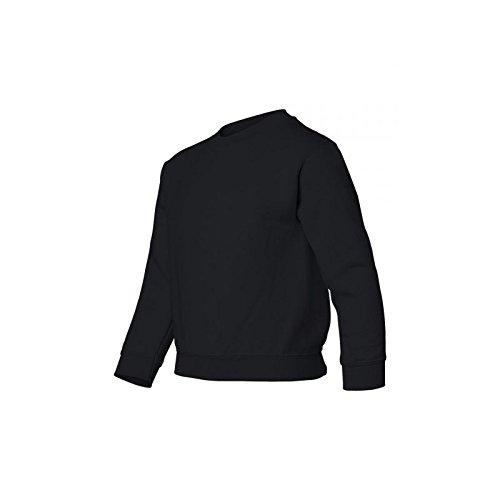 Gildan DryBlend Sweatshirt / Pullover mit Rundhalsausschnitt (L) (Schwarz)