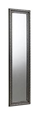 Julian Bowen Allegro Wall Hanging Dress Mirror, Pewter - low-cost UK light shop.