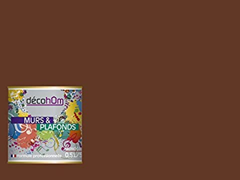 Peinture Exterieur Chocolat - DECOHOM Peinture Murale monocouche 0,5 L Velours