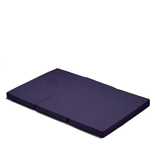 Hauck sleeper materassino per lettino da viaggio, 60 x 120 cm, pieghevole in tre, borsa di trasporto, blu
