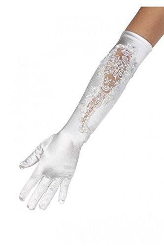 Bestickten weißen Handschuh Zeremonie für Frauen