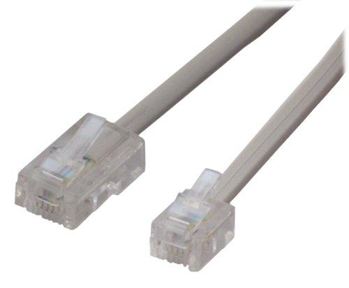 MCL 0.5m RJ11 - RJ45 0.5m Gris - Cable de red (0,5 m, RJ-45, RJ-11, Gris)
