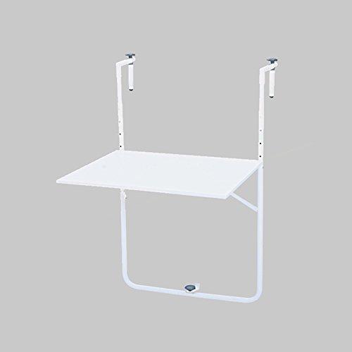 Table pliante en métal Balcon extérieur Balançoire Table à suspendre Table d'art en fer Bureau d'ordinateur simple moderne Simple ( Couleur : Blanc )