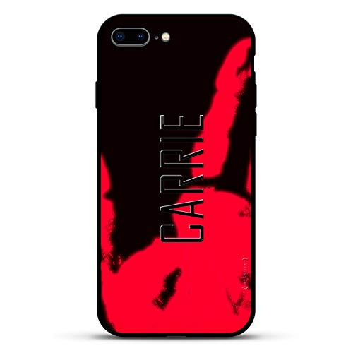 Name: Carrie Moderner Schriftstil, Luxendary Magma Serie: Farbwechsel-Matte Schutzhülle mit 3D-Druck und gehärtetem Glas für iPhone 8/7 Plus in Anthrazit