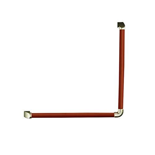 L-Typ Massivem Holz rutschfest Griffstangen für das Bad Haltegriff BadeWannengriff ältere Menschen Wandhaltegriff Haltestange Schwangere Frauen Behinderte Haltegriff für Bad Rot 64cm*64cm