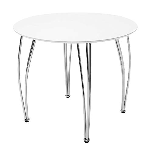 Riess Ambiente Stilvoller runder Esstisch ARRONDI weiss 90cm Konferenztisch Küchentisch Tisch