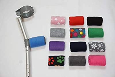 Comfy Handle Padded/Pad Covers Pair. Choice of Colours/Designs Black, Blue, Red, Grey Multi Spot, Pink Star, Purple, Grey Snowflake, Dark Grey, Pink, Navy, Black Multi Paw,Light Grey, Green Free P&P