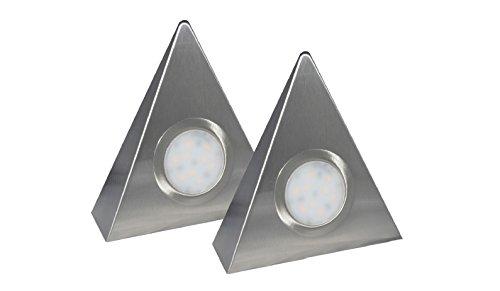 Aqua-Badshop LED-Dreieckleuchte DF-1927 2er Set mit Zentralschalter 2 x 2 Watt