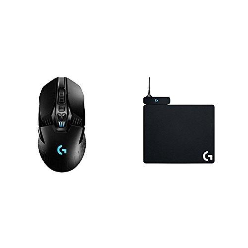 Logitech G903 Wireless Gaming Maus (mit kabelloser Powerplay-Aufladetechnologie und Lightspeed) + Powerplay Wireless Charging Gaming Mouse Pad (für Logitech G903 und G70