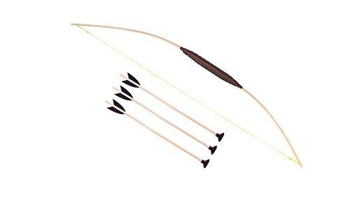 Holzspielerei Madera interino 73706-100 - Arma - los niños Arco con 3 Flechas 100 cm, Ventosa
