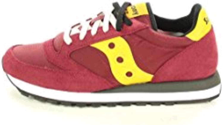 SAUCONY S2044-415 Original Jazz cordones rojos zapatos de las zapatillas de deporte hombre amarillo -