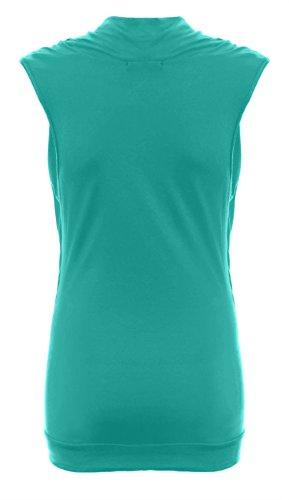 Nouvelle formule pour femme Col bénitier et manches longues sans manches pour femme Tailles :  8–26 Vert - Menthe