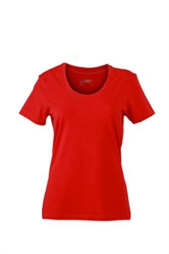 JAMES & NICHOLSON T-Shirts aus weichem Elastic-Single-Jersey Red