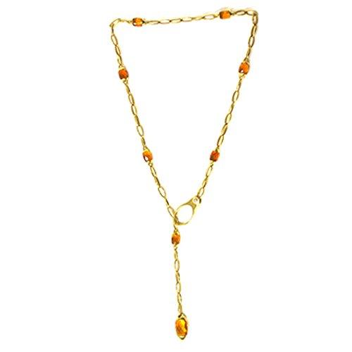 Collana Chimento sciarpina oro giallo con Topazio giallo 1G01153ZB1530