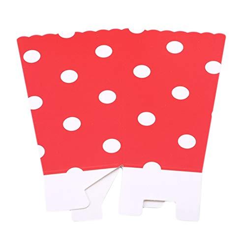 Papier Popcorn Boxen Halloween Party Mini Kinder Geschenk Süßigkeiten Buffet Favor Snack Treat Box (Rot) ()