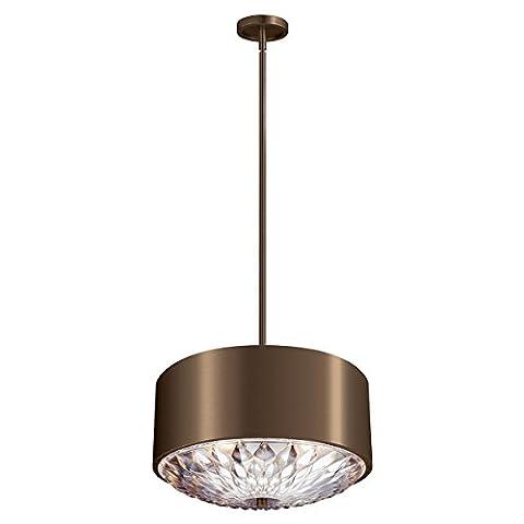 Hana - Elegant Four Light Pendant - Dark Aged Brass