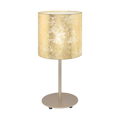EGLO 97646 Lampe de table, Acier, E27, 60 W, Champagne