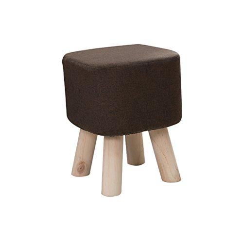 Weicher Hocker, hohe Dichte, starke Elastizität, komfortabel und voll, nicht leicht verformbar. Wird für die Garderobe im Patio-Kindergarten verwendet ( Color : Brown , Size : 28*28*35CM ) - Lager Trittbrett