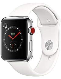 Apple Watch Series 3 Reloj Inteligente Acero Inoxidable OLED Móvil GPS (satélite) - Relojes Inteligentes (OLED, Pantalla táctil, GPS (satélite), Móvil, 52,8 g, Acero Inoxidable)