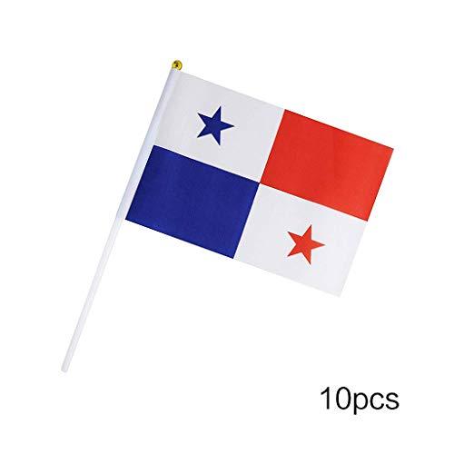 Lunji. 10 kleine Flaggen - Welt-Flaggen für Dekoration, Mahlzeiten zum Thema Geburtstag, Weltmeisterschaft, Hochzeit, Abendveranstaltungen, Panama, one Size (Golf-themen-dekorationen)