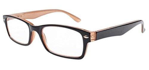 Preisvergleich Produktbild Eyekepper Federn-Scharnier Halb-Auge klare Linse Lesebrille Stil Lesebrille/Mit Etui