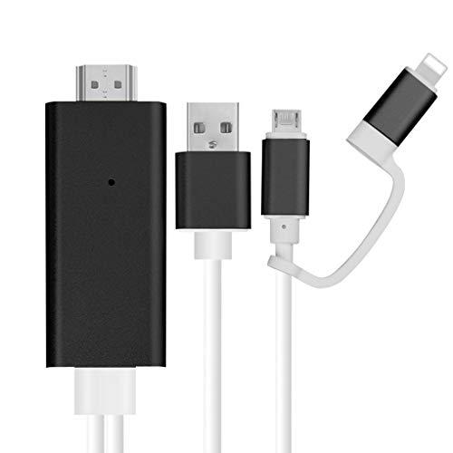 HD Monitor Kabel-TV-Projektor Großbildschirm USB 1080p-Draht-Linie Ersatz für iOS Android Geräte ()