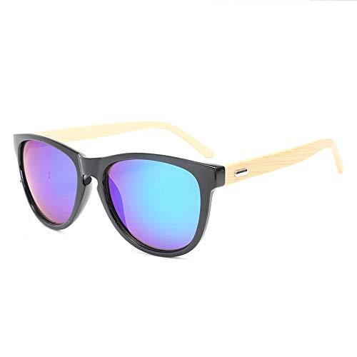 Männer Frauen Bambus Beine Gläser Bunte Sonnenbrillen Mode Bambus Füße Sonnenbrillen Brille (Color : Grün, Size : Kostenlos)