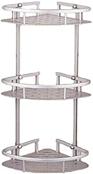 Bathroom Corner Shelf Aluminum 3 tiers Shower Storage Corner Shelves with Hooks Kitchen Corner Sticky Shelves
