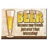 Imán del refrigerador original de los Estados Unidos imán de nevera de cerveza your friends de la decoración