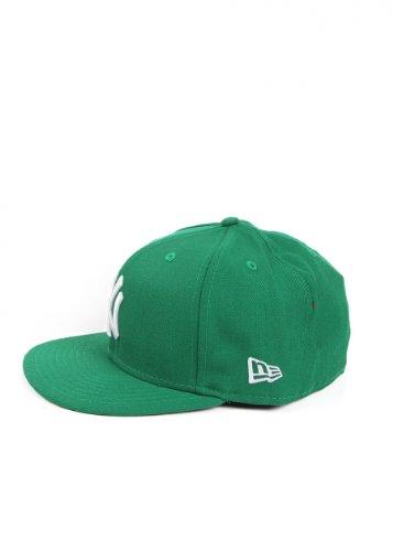 New Era Erwachsene Baseball Cap Mütze Mlb Basic NY Yankees 59Fifty Fitted Green/White