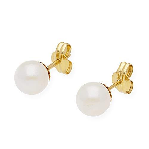 orecchini in Oro E Perle Akoya da 8mm