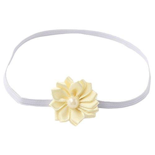 PIKABOO Simple flower baby headband Cream newborn headband girls hair accessories