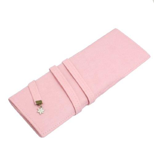 TOOGOO(R) rosa Kunstleder Cosmetic Pinsel, Bleistift, Stift-Halter-Beutel fuer Damen
