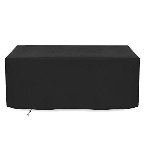Dokon Abdeckung für Gartenmöbel 420D Oxford-Gewebe Sitzgruppe Abdeckhaube, Rechteckig (242x162x100cm) - Schwarz