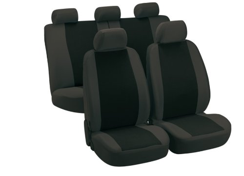 Preisvergleich Produktbild Universal Sitzbezug Schonbezug Dayton grau für Daihatsu Applause Charade Charmant Cuore Feroza Move Rocky Sirion