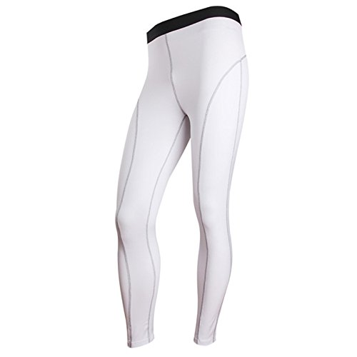 Men's Base Layer Compression Trousers white
