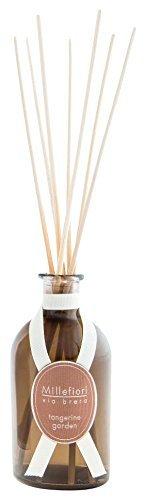 Millefiori 44DDTG Tangerine Garden Raumduft Diffuser 250 ml Via Brera inklusive Stäbchen, Glas, Braun, 7.8 x 7.5 x 30.7 cm -